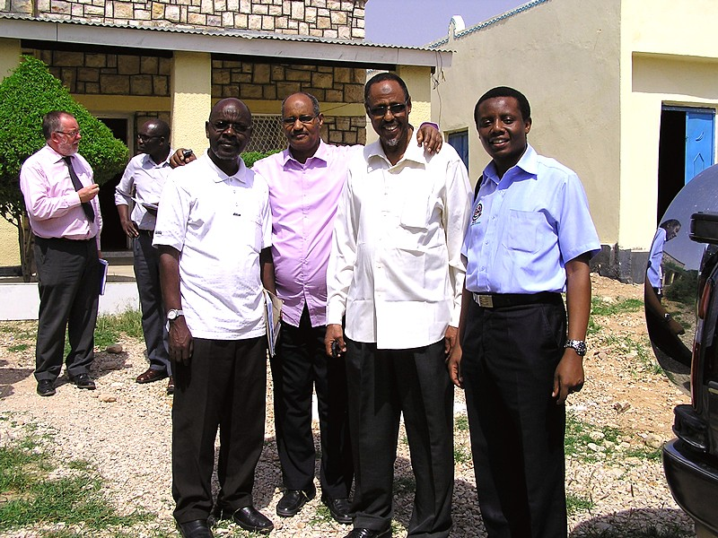 In Hargesia-Somaliland inspecting facilities for a partner university