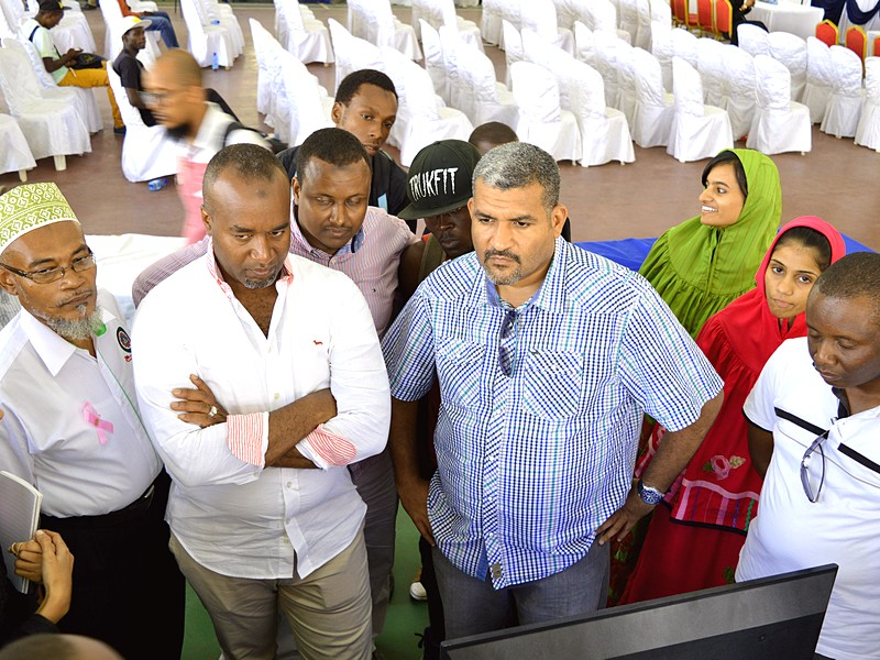 In a collaborative function with Samad and Mombasa county officials